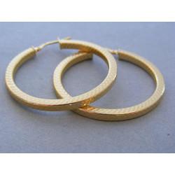 Zlaté dámske náušnice kruhy vzorované žlté zlato DA340Z 14 karátov 585/1000 3,40g