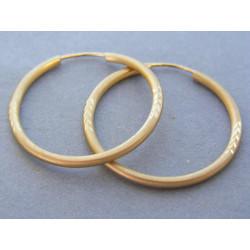 Zlaté dámske náušnice kruhy matné žlté zlato DA180Z 14 karátov 585/1000 1,80g
