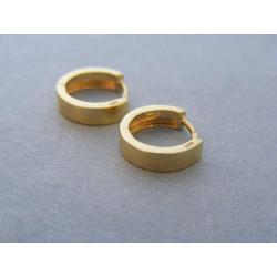 Zlaté dámske náušnice hladké krúžky žlté zlato DA163Z 14 karátov 585/1000 1,63g