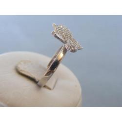 Strieborný dámsky prsteň zirkóny motýľ DPS54278 925/1000 2,78g