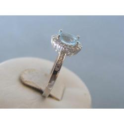 Strieborný dámsky prsteň modrý zirkón DPS54282 925/1000 2,82g