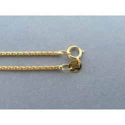 Zlatá dámska retiazka vzorovaná žlté zlato DR42189Z 14 karátov 585/1000 1,89g