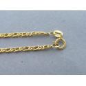 Zlatá retiazka vzorovaná žlté zlato DR42187Z 14 karátov 585/1000 1,87g
