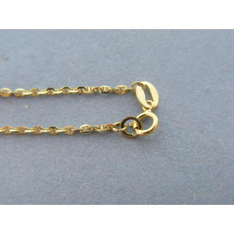 Zlatá dámska retiazka vzor valentina žlté zlato DR42185Z 14 karátov 585/1000 1,85g