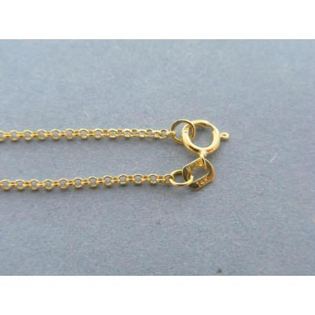 Zlatá retiazka ručný vzor žlté zlato DR50121Z 14 karátov 585/1000 1,21g
