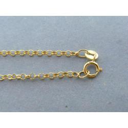 Zlatá dámska retiazka vzorovaná žlté zlato DR37096Z 14 karátov 585/1000 0,96g