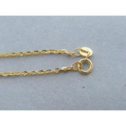 Zlatá dámska retiazka ručný vzor žlté zlato DR50229Z 925/1000 2,29g