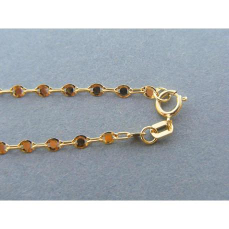 Zlatá dámska retiazka vzorovaná žlté zlato DR50233Z 14 karátov 585/1000 2,33g