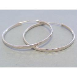 Dámske strieborné náušnice kruhy DAS484 925/1000 4,84 g