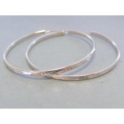 Dámske strieborné náušnice kruhy DAS617 925/1000 6,17 g