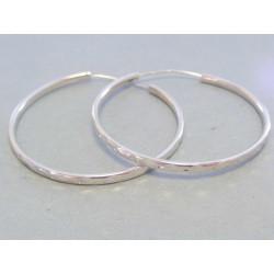 Dámske strieborné náušnice kruhy DAS692 925/1000 6,92 g