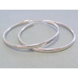 Dámske strieborné náušnice kruhy DAS592 925/1000 5,92 g