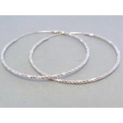 Dámské strieborné náušnice kruhy DAS361 925/1000 3,61 g