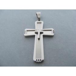 Prívesok kríž z chirurgickej ocele