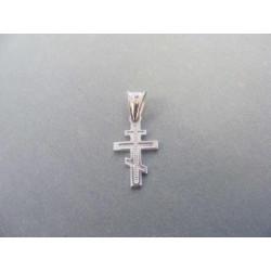 Zlatý prívesok krížik pravoslávny biele zlato DI052B 585/1000 14 karátov 0,52 g