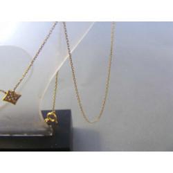 Zlatá dámska retiazka Selebritka VR445125 Z 14/karátov 585/1000 1,25 g