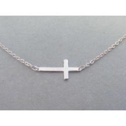 Strieborná dámska retiazka s príveskom krížik Selebritka DRS46155 925/1000 1,55 g