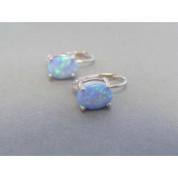 Strieborné naušnice modrý opál DAS209 925/1000 2,09 g