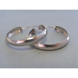 Dámske strieborné naušnice kruhy DAS367 925/1000 3,67 g