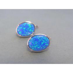Strieborné dámske naušnice modrý opál DAS550 925/1000 5,50 g