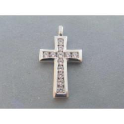 Strieborný prívesok kríž zirkóny VIS330 925/1000 3,30 g