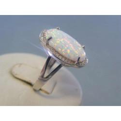 Dámsky strieborný prsteň opál zirkóny VPS55303 925/1000 3,03 g