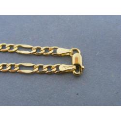 Pánska  retiazka vzor figaro žlté zlato DR45357Z 14 karátov 585/1000 3,57 g