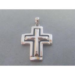 Strieborný prívesok kríž DIS445 925/1000 4,45 g