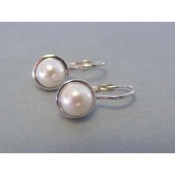 Dámske strieborné naušnice perly VAS287 925/1000 2,87 g