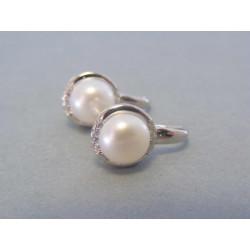 Dámske strieborné naušnice perly VAS469 925/1000 4,69 g