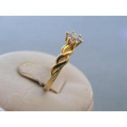 Dámsky zlatý prsteň žlté zlato zirkóny DP57147Z 14 karátov 585/1000 1,47 g