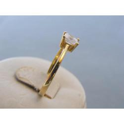 Zlatý dámsky prsteň žlté zlato zirkóny DP59218Z 14 karátov 585/1000 2,18 g