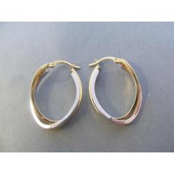 Zlaté dámske naušnice viacfarebné zlato DA275V 14 karátov 585/1000 2,75 g