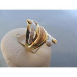 Zlatý dámsky prsteň viacfarebné zlato DA55324V 14 karátov 585/1000 3,24 g