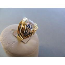 Zlatý dámsky prsteň vzorovaný viacfarebné zlato  DA64352V 14 karátov 585/1000 3,52 g