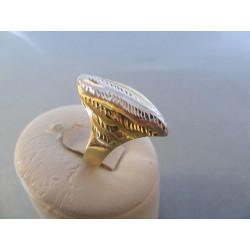 Zlatý dámsky prsteň vzorovaný viacfarebné zlato DA60312V 14 karátov 585/1000 3,12 g