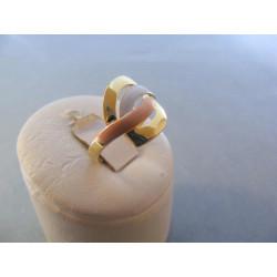 Dámsky zlatý prsteň viacfarebné zlato DA55260V 14 karátov 585/1000 2,60 g