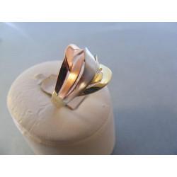 Zlatý dámsky prsteň viacfarebné zlato DA59424V 14 karátov 585/1000 4,24 g