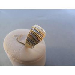 Dámsky zlatý prsteň viacfarebné zlato vzorovaný DA61226V 14 karátov 585/1000 2,26 g