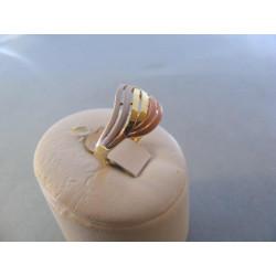Zlatý prsteň dámsky viacfarebné zlato DA56263V 14 karátov 585/1000 585/1000 2,63 g
