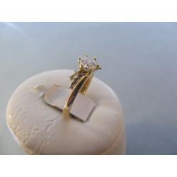 Dámsky prsteň žlté zlato zirkóny DP54188 14 karátov 585/1000 1,88 g