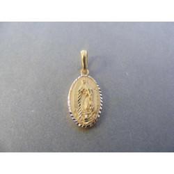 Zlatý prívesok svätý obrázok viacfarebné zlato VI122V 14 karátov 585/1000