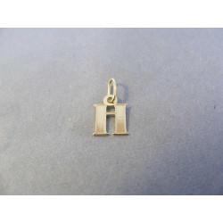 Zlatý prívesok písmenko žlté zlato DI022Z 14 karátov 585/1000 0,22 g