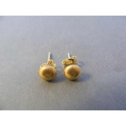 Dámske zlaté naušnice napichovačky žlté zlato DA108Z 14 karátov 585/1000 1,08 g  DA