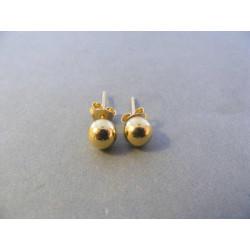 Zlaté dámske naušnice napichovačky guličky žlté zlato DA116Z 14 karátov 585/1000 1,16 g