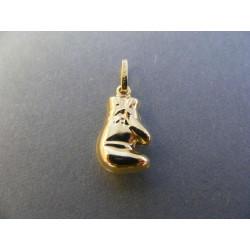 Zlatý prívesok rukavica DI107Z 585/1000 14 karátov 1,07 g
