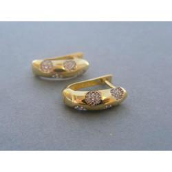 Zlaté dámske náušnice žlté zlato DA284Z 585/1000 14 karátov 2,84 g