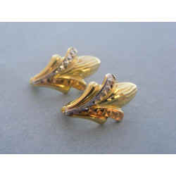 Zlaté dámske náušnice viacfarebné zlato DA187V 585/1000 14 karátov 1,87 g