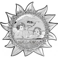 Strieborný obraz Anjelíčkovia 6270/3