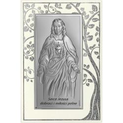 Strieborný obraz Ježiš na paneli 6672SP/5A